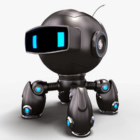 robot dog stylized 3D model