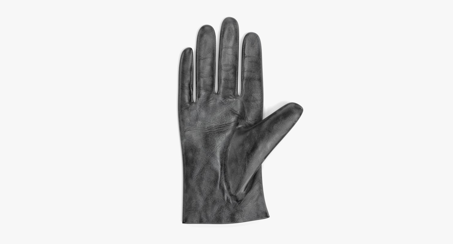 leather gloves 3D