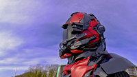 3D sci-si helmet