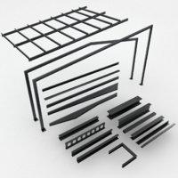 3D girder building frame model