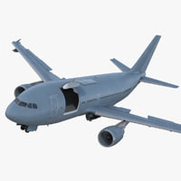Airbus A310 Multi Role Tanker Aircraft Transport Generic Rigged 3D Model