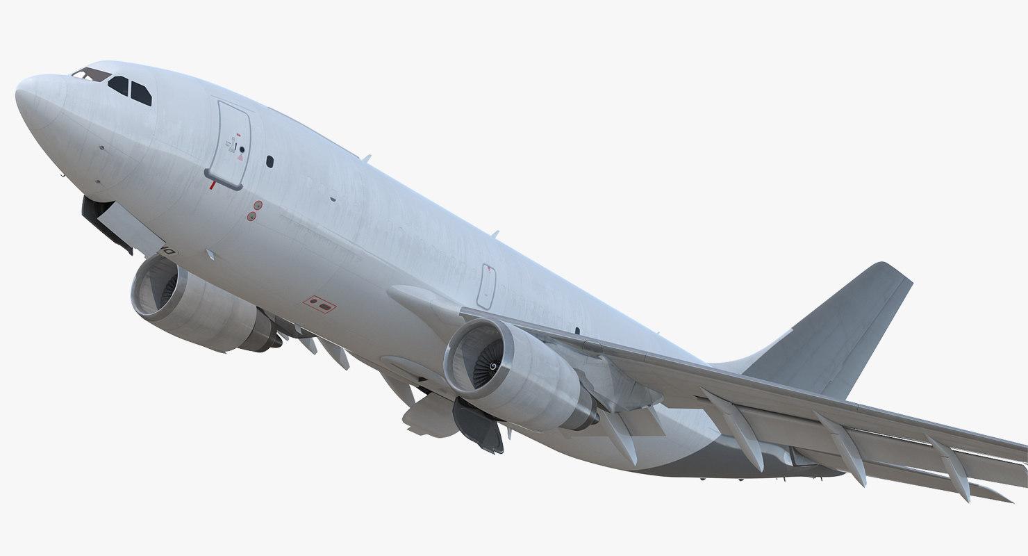 3D cargo aircraft airbus a310-300f model