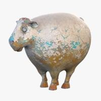sheep statuette 3D