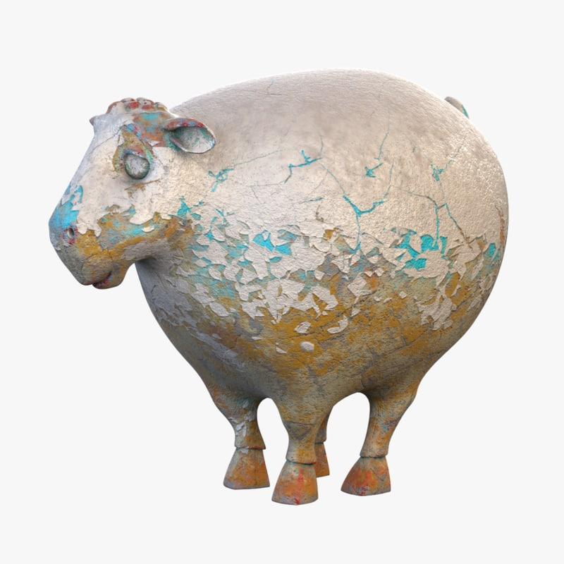 sheep statuette 3D