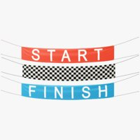 Start and Finish Racing Banners