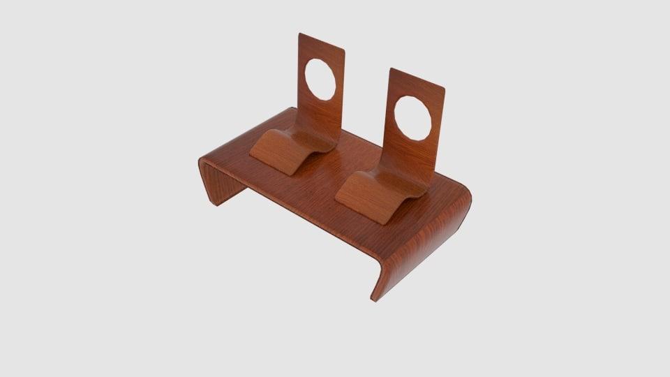3D chabudai japanese table chair