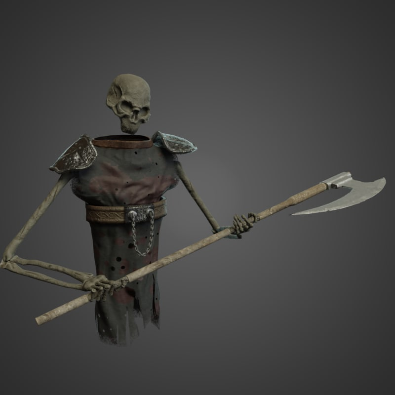 3D rigged ghost character model