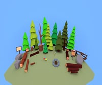 small forest 3D model
