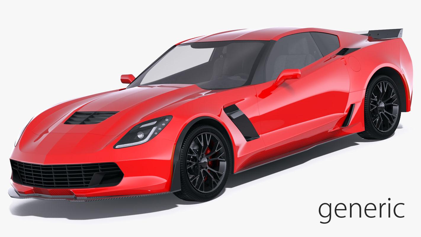 3D generic sport car model