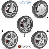 3D armrend car wheels 1
