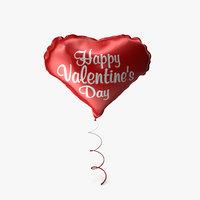 foil balloon 3D