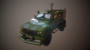 ready military truck - 3D model