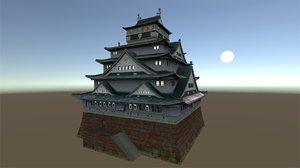fantasy japanese castle model