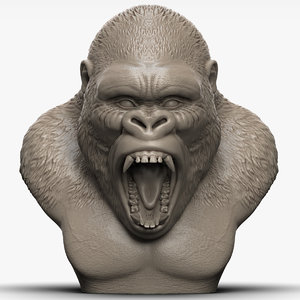angry gorilla 3D model