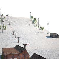 Ski slope lift mountain pack