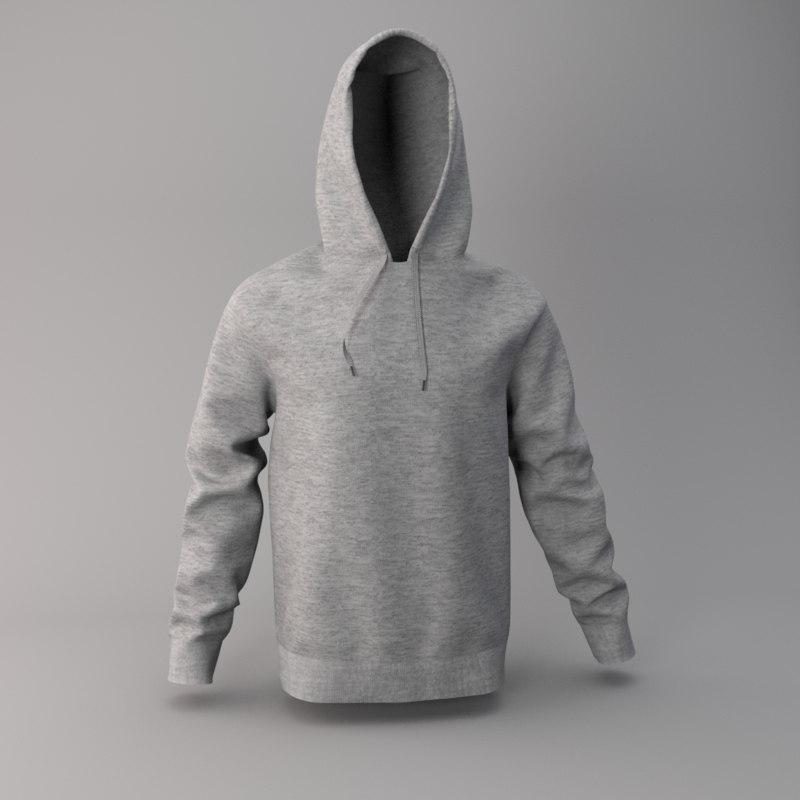 3D model hood hoodie