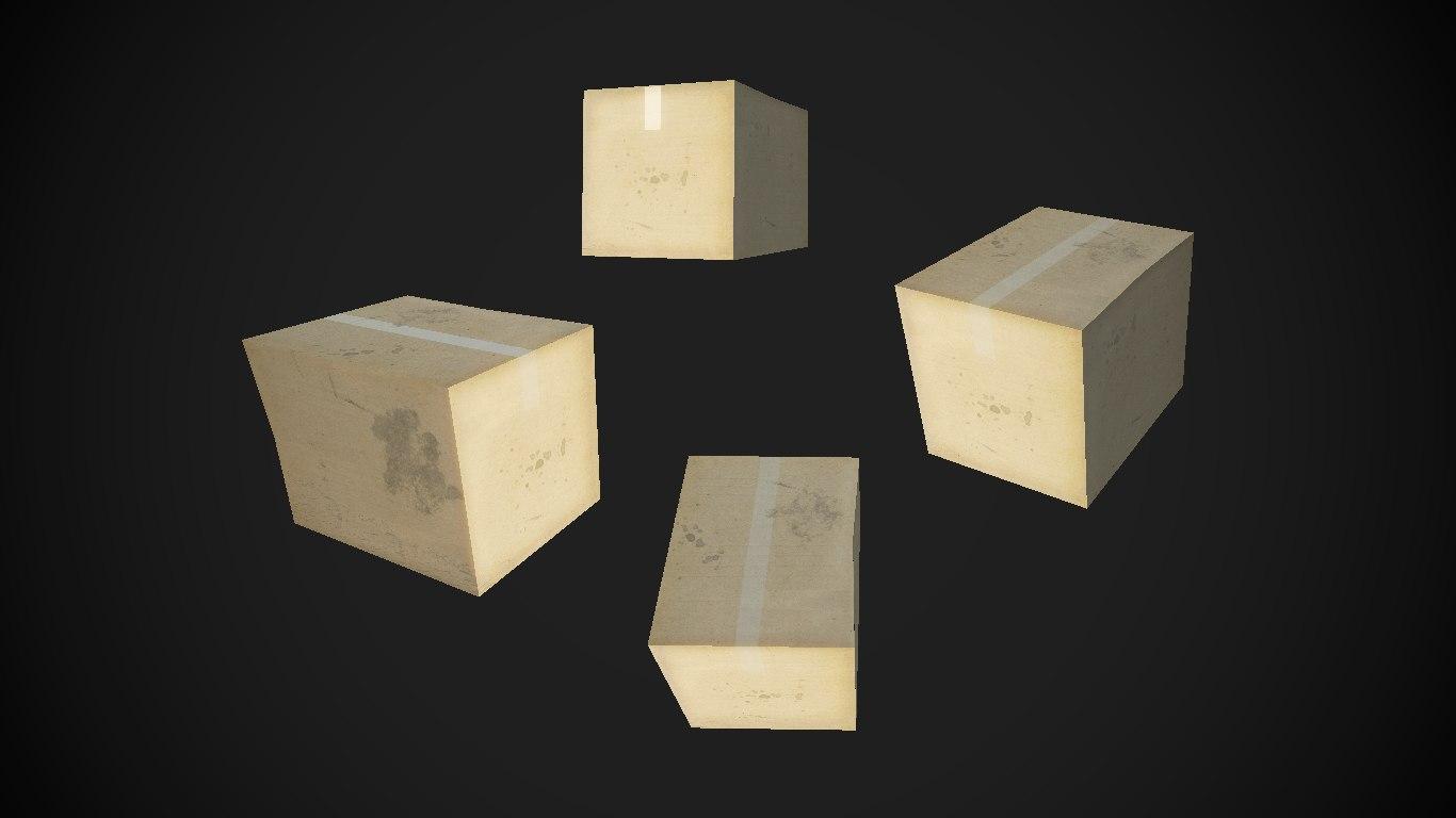 box 3D model