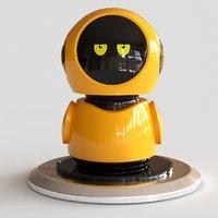 cute yellow robot 3D