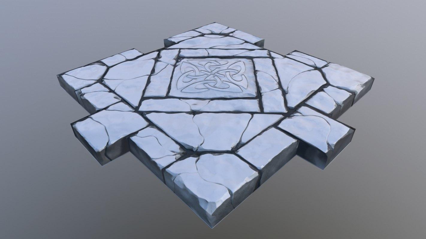 floor tileable stone model