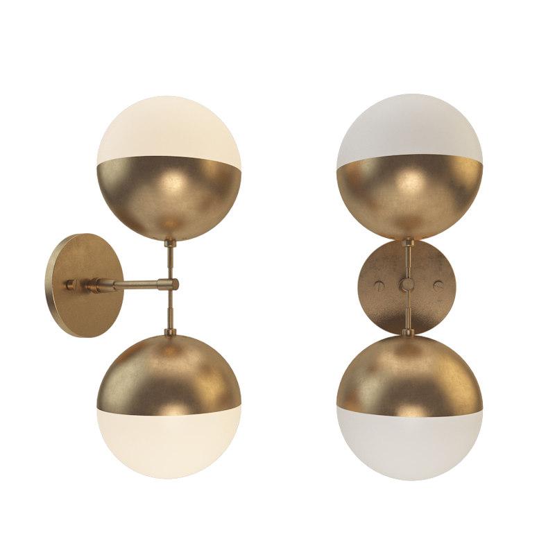 bra copper light duos 3D model