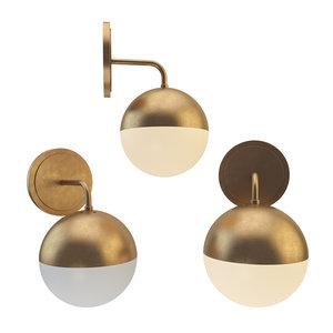 bra copper light mono 3D