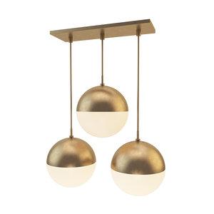 3D suspended lamp copper light model