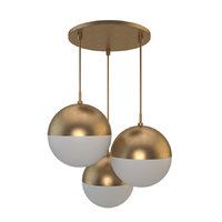 suspended lamp copper light 3D model