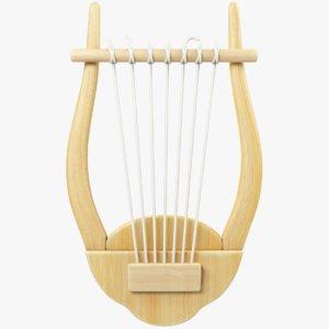 3D cartoon harp model
