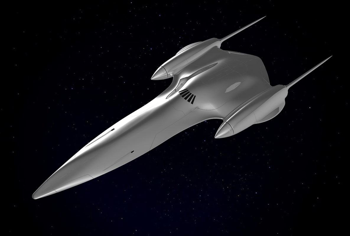 3D model naboo royal starship queen