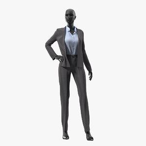 realistic woman suit mannequin 3D model