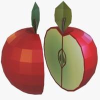 cartoonist apple 3D model