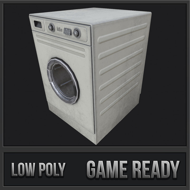 washing machine pbr 3D
