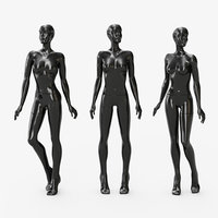 3D mannequin female glossy model