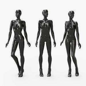 3D mannequin female glossy model