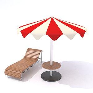 3D beach furniture 2