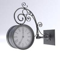 3D street clock model