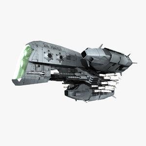 cerberus fighter space 3D model