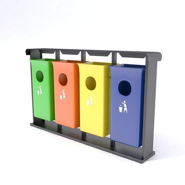 trashcans 3D