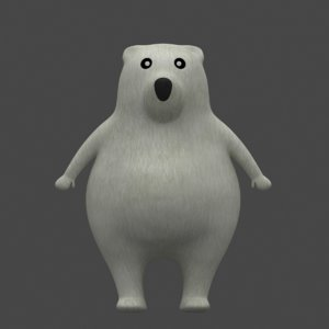 white bear cartoon model