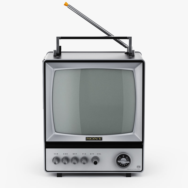 retro tv sony-9 3D model