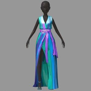 polygonart women summer long 3D model