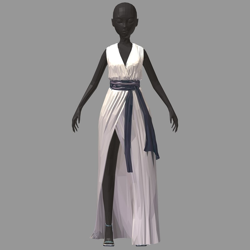 3D art women summer long
