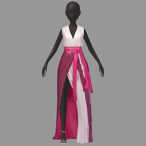 3D lowpolyart summer long pink