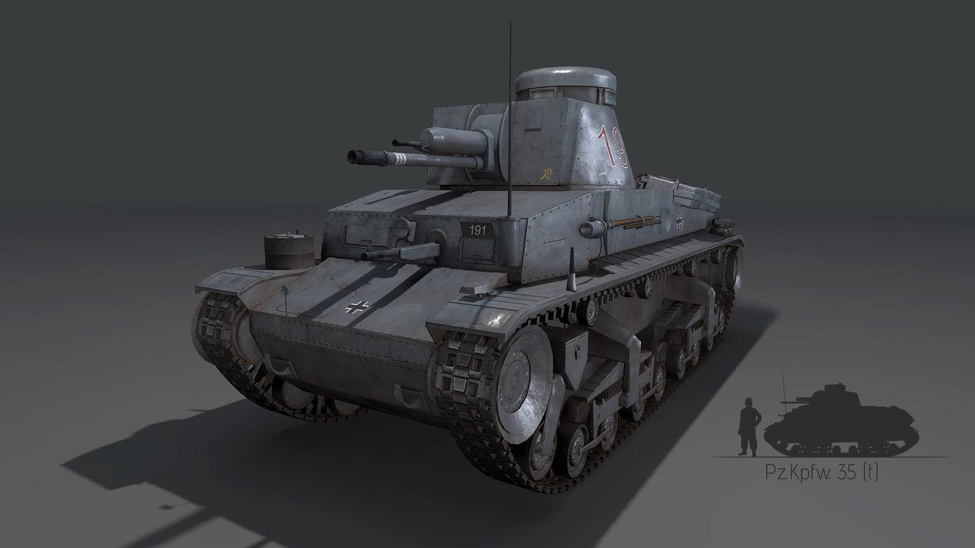 german tank pzkpfw35t 3D