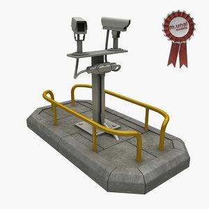 camera road 3D model