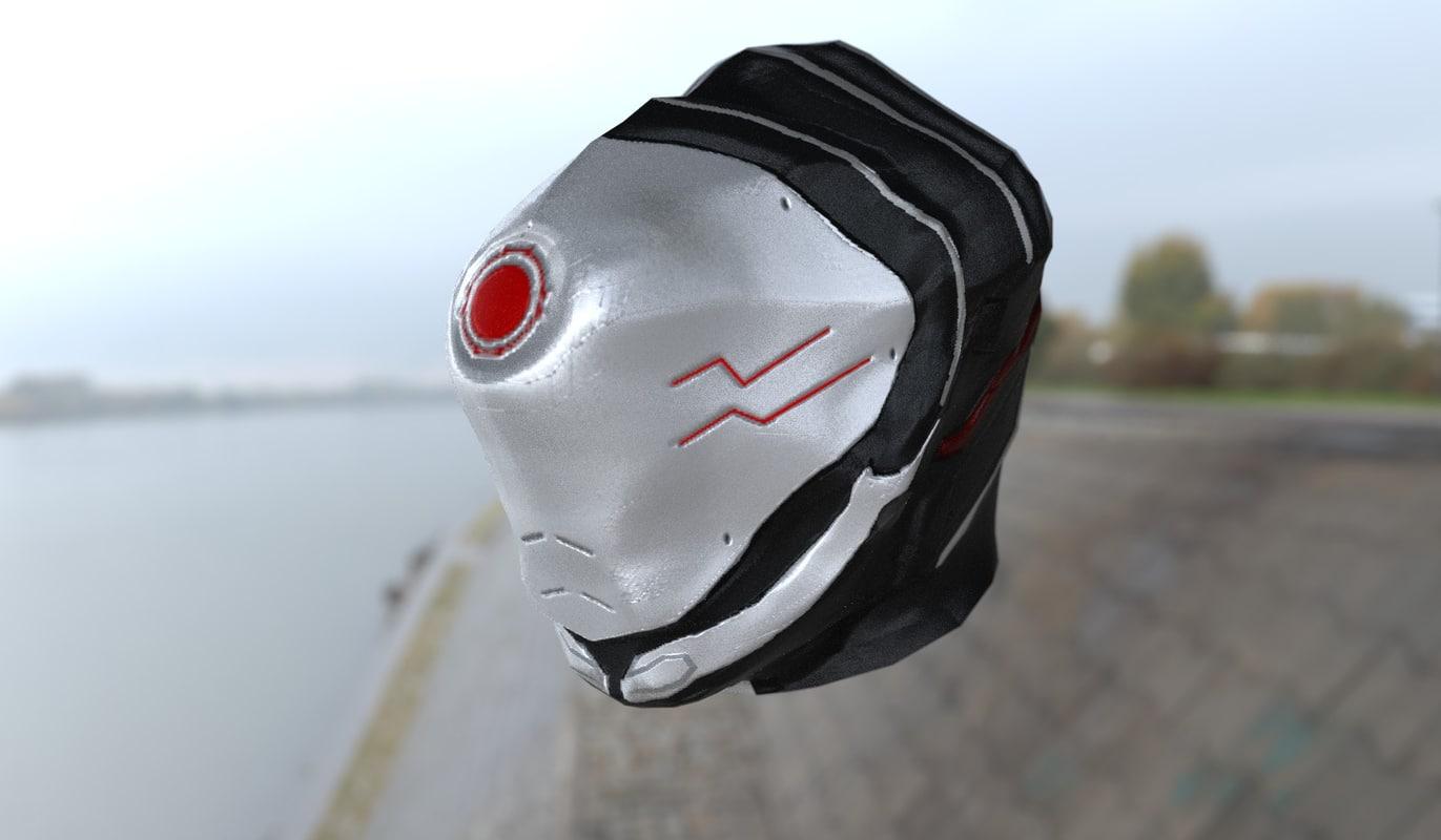 3D infantry helmet