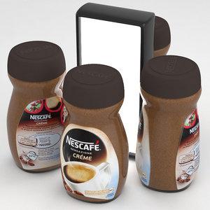 coffe nescafe cafe 3D