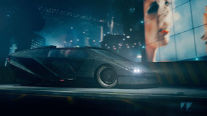 retro futuristic car model