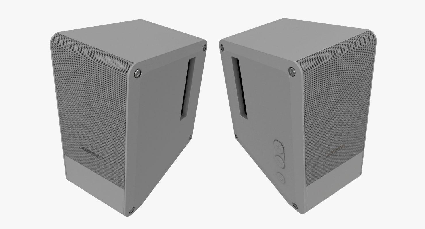 speakers bose 3D model