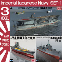 imperial japanese navy wwii 3D model
